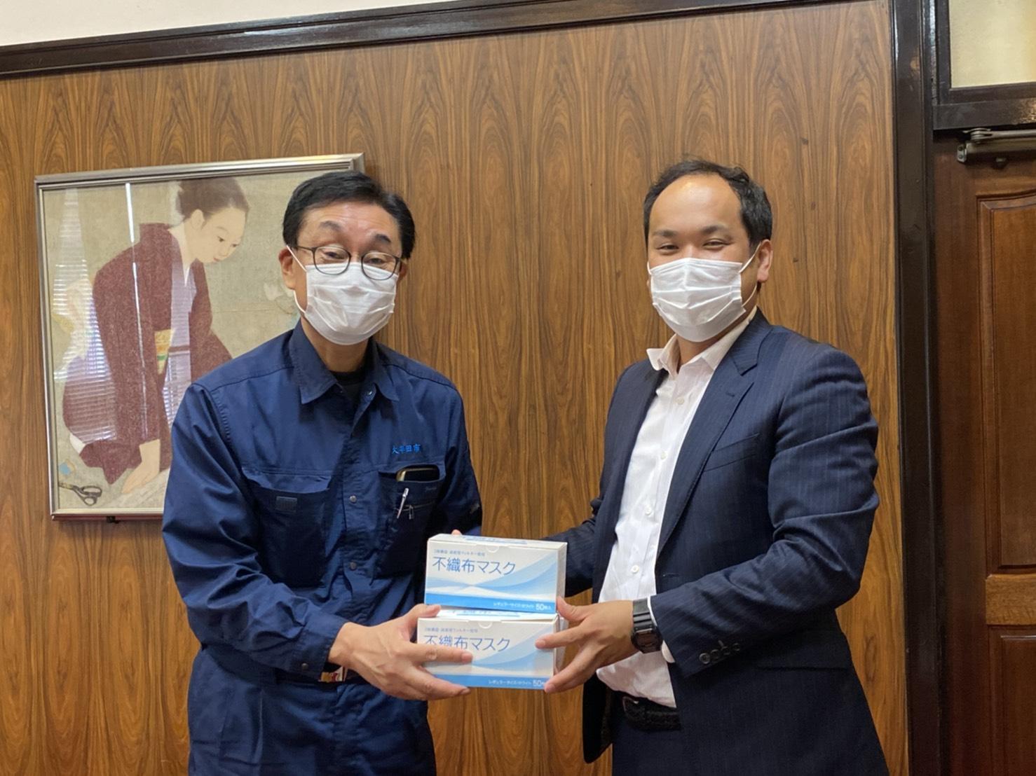 大牟田市の皆様へマスクの寄付をさせて頂きました。